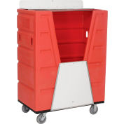 Global Industrial™ Red Best Value Hopper Front Plastic Security Bulk Truck 43 Cu. Ft.