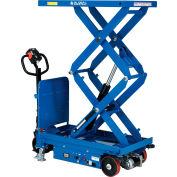 "Global Industrial™ Self Propelled Mobile Scissor Lift Table, 40""L x 20-1/2""W, 2000 Lb. Cap."