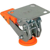 """Floor Lock with Polyurethane Foot Pad FL-LKH-4 for 4"""" Casters"""