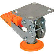 """Floor Lock with Polyurethane Foot Pad FL-LKH-5 for 5"""" Casters"""