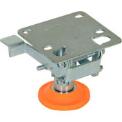 """Floor Lock with Polyurethane Foot Pad FL-LKL-3 for 3"""" Casters"""