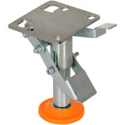 """Floor Lock with Polyurethane Foot Pad FL-LKL-4 for 4"""" Casters"""
