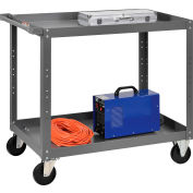 Global Industrial™ 2 Shelf Steel Stock Cart 36 x 24 800 Lb. Capacity