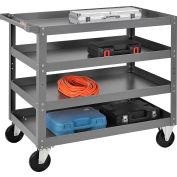 Global Industrial™ 4 Shelf Steel Stock Cart 36 x 24 800 Lb. Capacity