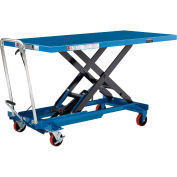 Long Deck Mobile Scissor Lift with Oversized 63 x 32 Platform 1100 Lb. Cap.