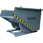 Global Industrial™ Medium Duty Self Dumping Forklift Hopper, 1 Cu. Yd., 4000 Lb. Cap., Gray