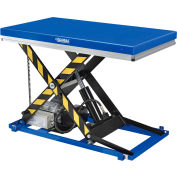 "Global Industrial™ Power Scissor Lift Table With Hand Control, 48"" x 28"", 2200 Lb. Capacity"