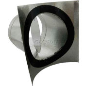 """Speedi-Products 6"""" Round Pipe Saddle 90° Take Off With Gasket and Volume Damper SM-SDL90D 06"""