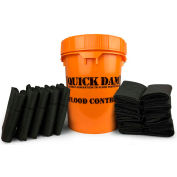 Global Approved Grab & Go Bucket, QDGGCO, 5 - 5Ft. Barriers & 10 Flood Bags