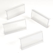 """Nexel® ABM3C-25 Clear Label Holder 3""""W x 1-1/4""""H With Paper Insert (25 Pc)"""