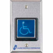 Illuminated Request To Exit Button With ADA Symbol - Pkg Qty 2