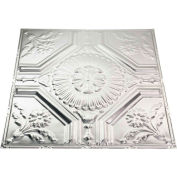 Great Lakes Tin Rochester 2' X 2' Nail-Up Tin Ceiling Tile in Unfinished - T58-03