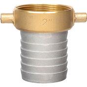 "Apache 43076000 2"" Aluminum Female Short Shank Coupling w/ Brass Nut"