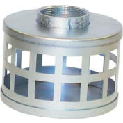 "3"" FNPT Plated Steel Square Hole Strainer"