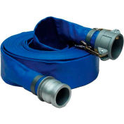 "1-1/2""  x  50' PVC Lay Flat Discharge Hose Coupled w/ C x E Aluminum Cam & Groove Fittings"