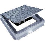 Acudor 24x24 Aluminum Floor Door-Channel Frame With Drain