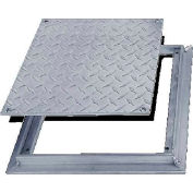 Acudor 18x18 Aluminum Diamond Plate Floor Door - No Hinge