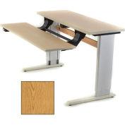 Infinity™ Powered Height Adjustable Bi-Level Workstation - Oak