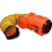 "Ventilateur Axial allegro avec 15' conduit & cartouche 9553-15, 16"" dia., 1HP, CFM 3200"