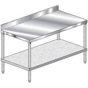 "Aero Manufacturing 1TGB-3024 24""W x 30""D Stainless Steel Workbench with 10"" Backsplash"