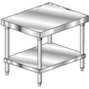 """Aero Manufacturing Mixer Stand W/ Galv Undershelf, 14 Ga 304 Stainless Steel Top, 24""""Wx30""""D"""