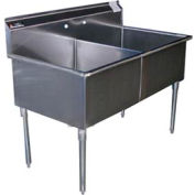 Premium SS Non-NSF Two Bowl Sink - 24 x 24