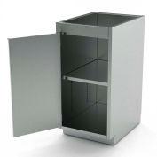 "AERO Stainless Steel Base Cabinet BC-1100, 1 Hinged Door, 1 Shelf, 12""W x 21""D x 36""H"