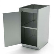 "Aero Stainless Steel Base Medical Cabinet BC-1102 - 1 Hinged Door, 1 Shelf, 18""W x 21""D x 36""H"