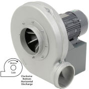 Americraft Aluminum Blower, HADP10-3/4-S-TE-CWBH, 3/4 HP, 1 PH, TEFC, CW, Bottom Horizontal