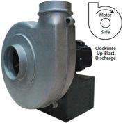Americraft Aluminum Blower, HADP10-3/4-T-TE-CWUB, 3/4 HP, 3 PH, TEFC, CW, Upblast