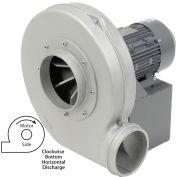 Global Industrial™ Aluminum TEFC Blower, 5 HP, 3 Phase, CW, Bottom Horiz., 2300 CFM