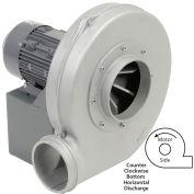 Americraft Aluminum Blower / HADP9-1/2-T-TE-CCWBH / 1/2 HP / 3 PH / TEFC / CCW / Bottom Horizontal