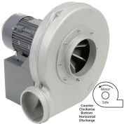 Americraft Aluminum Blower / HADP9-3/4-T-TE-CCWBH / 3/4 HP / 3 PH / TEFC / CCW / Bottom Horizontal