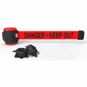 """Banner Stakes MH5009 - 30' Magnetic Wall Mount Barrier, """"Danger-Keep Out"""" Banner"""