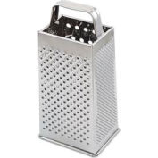 """Alegacy 3199 - Stainless Steel Square Grater 9"""", 2 Slicing Surfaces - Pkg Qty 12"""