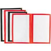"Alegacy 712R - Double Menu Cover, 7-1/2"" x 11"" Red"