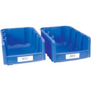"Label Holder, Bin, 1"" x 3"", Clear, Price for Pack of 25"