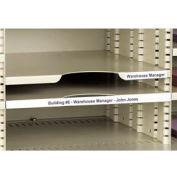 """Label Holders, 1-1/2"""" x 6"""", Clear, Removable (12 pcs/pkg)"""