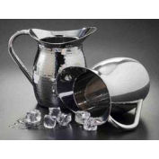 American Metalcraft HMWP64 - Pitcher, 64 oz., Double Wall, With Hammered Finish