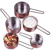 American Metalcraft MCW4 - Measuring Cups, 1/4, 1/3, 1/2, And 1 Cup (Set Of 4), Wire Loop Handle