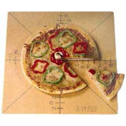 American Metalcraft MPCUT6 - Pizza Slice Cutting Board And Guide, With Markings For 6 Slice