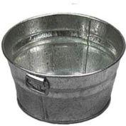 "American Metalcraft MTUB63 - Tub, 6"" x 3"", Side Handles, Galvanized Tin"
