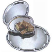 American Metalcraft STOV128 - Affordable Elegance Serving Tray, Oval, 8 x 12, Embossed, Chrome