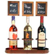 American Metalcraft WBWR3 - Securit Wine Bottle Display With Chalk Board, Triple 16 x 19 Copper Look
