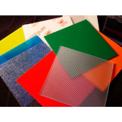 """AIN Plastics Polycarbonate GP AR-2 Sheet, 12""""W. x 12""""L .177"""" Thick, Clear"""