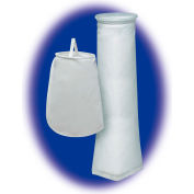 "Liquid Bag Filter, Polyester Felt, 7-3/50""Dia. X 32""L, 1 Micron, Plastic Sure Seal Ring - Pkg Qty 50"