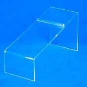 """Shoe Display, 8-1/4"""" L x 4"""" H, 3/32"""" Thickness, Acrylic, Clear - Pkg Qty 5"""