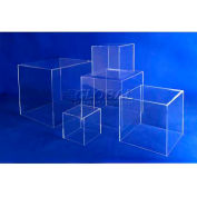 "Acrylic 5 Sided Cubes, 12"" x 12"" x 12"", 3/16"" Thickness, Clear"