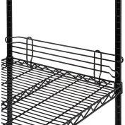 "Nexel® Black Epoxy Wire Ledge, 24""W x 4""H"