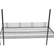 "Nexel® Black Epoxy Wire Ledge, 48""W x 4""H"